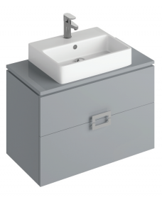 Katie Pearl Grey 80 CounterTop Vanity Unit and Brook Basin