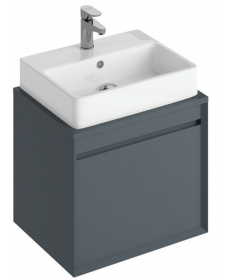 Reflex Antracite 55 CounterTop Vanity Unit and Brook Basin