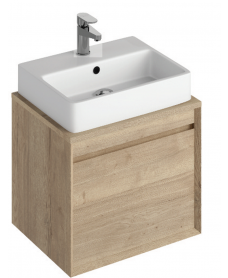 Reflex Halifax Oak 55 CounterTop Vanity Unit and Brook Basin