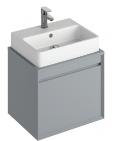 Reflex Pearl Grey 55 CounterTop Vanity Unit and Brook Basin