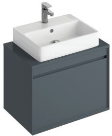 Reflex Antracite 65 CounterTop Vanity Unit and Brook Basin