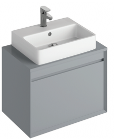 Reflex Pearl Grey 65 CounterTop Vanity Unit and Brook Basin