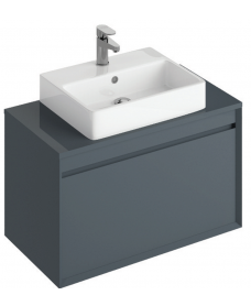 Reflex Antracite 80 CounterTop Vanity Unit and Brook Basin