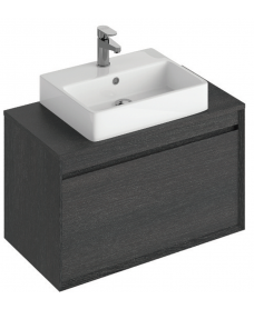 Reflex Dark Wood 80 CounterTop Vanity Unit and Brook Basin