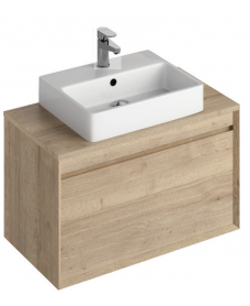 Reflex Halifax Oak 80 CounterTop Vanity Unit and Brook Basin