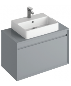 Reflex Pearl Grey 80 CounterTop Vanity Unit and Brook Basin