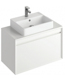Reflex White 80 CounterTop Vanity Unit and Brook Basin