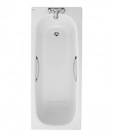 Celtic 1700x700 Twin Grip Steel Bath - 2 Tap Hole Anti Slip