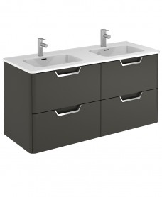 Lyon Gloss Grey 120cm Vanity Unit