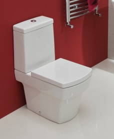 Quadro Close Coupled Toilet & Soft Close Seat