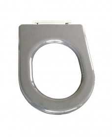 Compact seat ring grey stainless steel top fix hinge