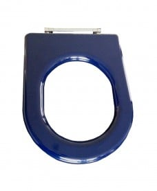 Compact seat ring blue stainless steel top fix hinge