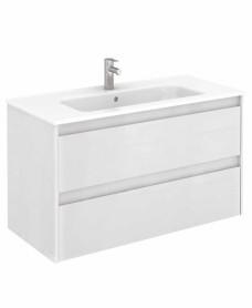 Dijon White 100 Vanity Unit and SLIM Basin