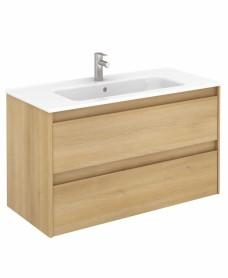 Dijon Nordic Oak 100 Vanity Unit and SLIM Basin