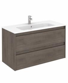 Dijon Samara Ash 100 Vanity Unit and SLIM Basin