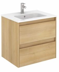 Dijon Nordic Oak 60 Vanity Unit and SLIM Basin
