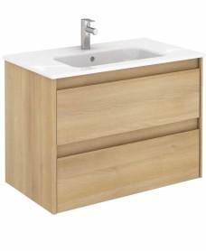 Dijon Nordic Oak 80 Vanity Unit and SLIM Basin