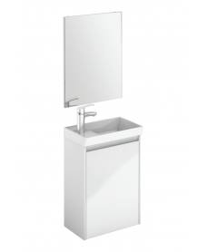 Dijon White 45 Wall Hung Vanity Unit and Mirror.
