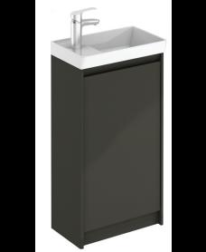 Dijon Cloakroom Floor Standing Furniture Pack Gloss Grey
