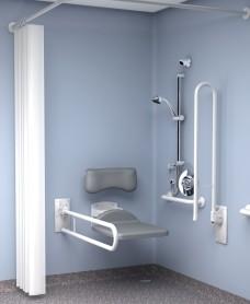 Inta Doc M Shower Pack Concealed Valve - White Rails