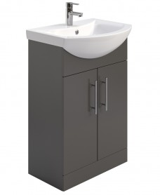Belmont 55cm Vanity Unit & Basin Gloss Grey