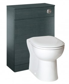 Porto Grey  Back to Wall Slimline Unit with Concealed Cistern