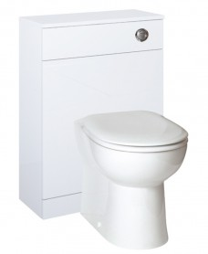 Porto White  Back to Wall Slimline Unit with Concealed Cistern