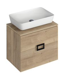 Katie Dark Wood 65 CounterTop Vanity Unit and Enya Basin
