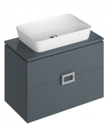 Katie Antracite 80 CounterTop Vanity Unit and Enya Basin