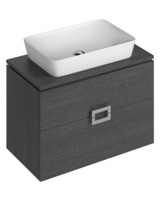 Katie Dark Wood 80 CounterTop Vanity Unit and Enya Basin