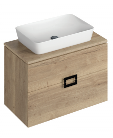 Katie Halifax Oak 80 CounterTop Vanity Unit and Enya Basin