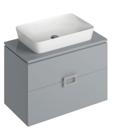 Katie Pearl Grey 80 CounterTop Vanity Unit and Enya Basin