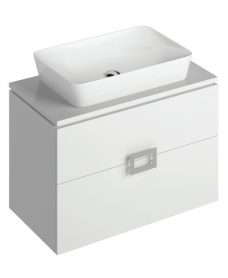 Katie White 80 CounterTop Vanity Unit and Enya Basin