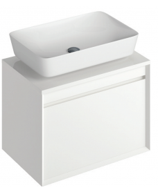Reflex White 65 CounterTop Vanity Unit and Enya Basin