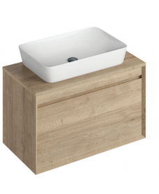 Reflex Halifax Oak 80 CounterTop Vanity Unit and Enya Basin