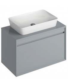 Reflex Pearl Grey 80 CounterTop Vanity Unit and Enya Basin