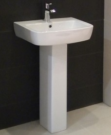 Florence Basin 52cm  & Pedestal (1TH)