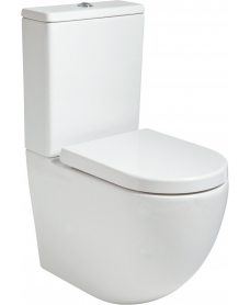 Inspire Fully Shrouded RIMLESS Toilet and Soft Close Seat