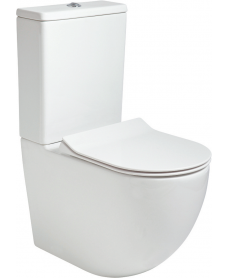Inspire Fully Shrouded RIMLESS Toilet and Slim Soft Close Seat
