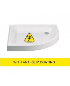 JT Ultracast 1000 Quadrant  Radius 550 2 Upstand Shower Tray - Anti Slip