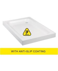 JT Ultracast 900x800 Rectangle Upstand Shower Tray - Anti Slip