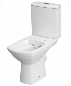 Carina rimless close coupled, horizontal outlet includng duroplast soft close seat & cover metal hinge