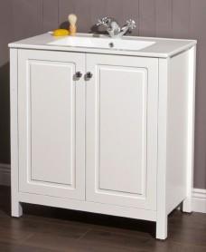 Kingston 80 Chalk White Vanity Unit & Toledo Basin