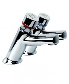Non concussive basin mounted push taps