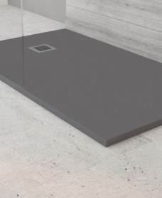 Slate Anthracite 1700x700mm Rectangular Shower Tray & Waste