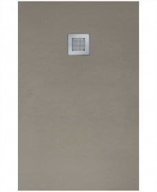 Slate Taupe 1700x700mm Rectangular Shower Tray & Waste