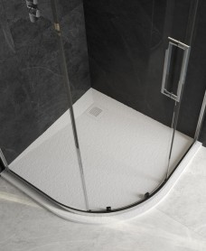 Slate 1000 Quadrant White Shower Tray & Waste