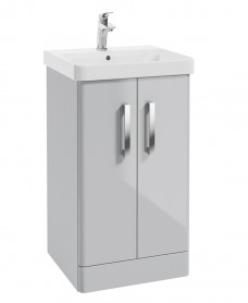 Odeon Cool Grey 500mm 2 Door Vanity Unit & Basin