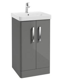 Odeon Steel Grey 500mm 2 Door Vanity Unit & Basin