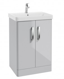 Odeon Cool Grey 600mm 2 Door Vanity Unit & Basin